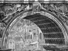 Doorkijkje naar het Forum Romanum, Rome