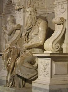 Michelangelo's Mozes (© Wikipedia)
