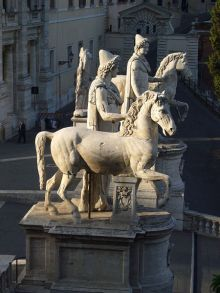 De Dioscuren op het Campidoglio (© Wikipedia)
