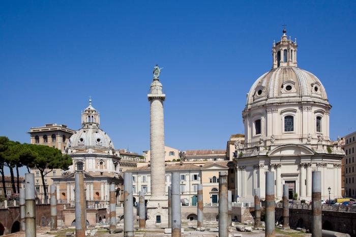 Ancient trajan market in rome