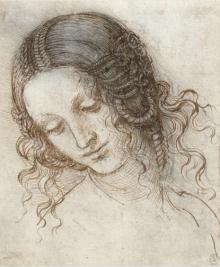 Schets uit 1504; studie voor het schilderij 'Leda en de zwaan'