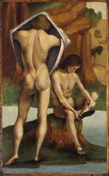 Luca Signorelli, Twee mannelijke naaktfiguren (1488-1489).