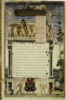 Elegant manuscript van De rerum nature van Lucretius, gekopieerd door ten Augustijner monnik
