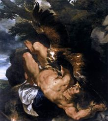 Prometheus door Peter Paul Rubens