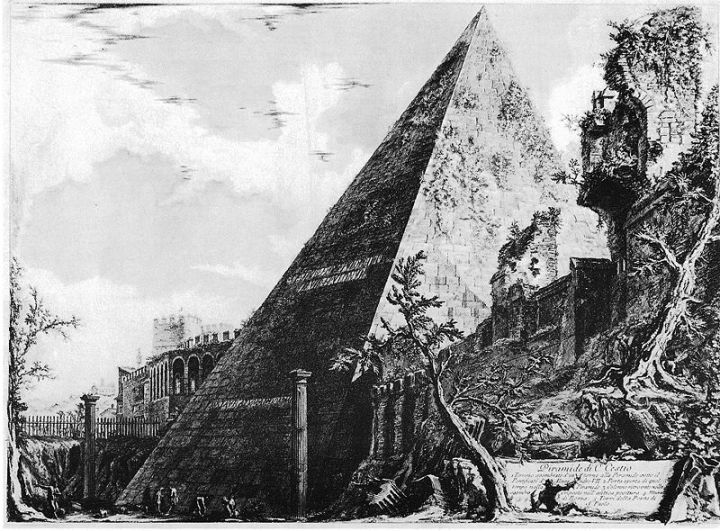 Een piramide in Rome