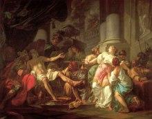 Jacques-Louis David (1748 - 1825), De dood van Seneca