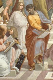 Parmenides, detail van De school van Athene, Rafael