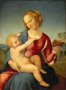 Boven: Madonna met de granaatappel, ca. 1504  Onder: | copyright © Albertina, Wenen