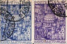 Postzegel van Rome uit het Heilig Jaar 1950 (MCML). Bron: Roma Sparita
