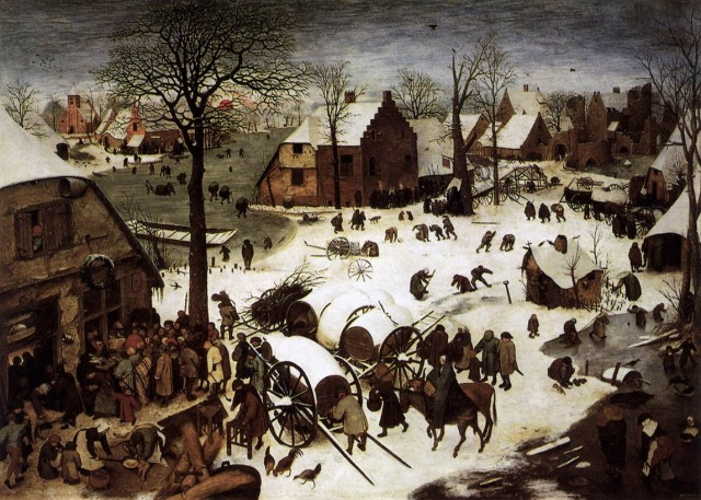 2. Pieter Bruegel de Oude 1520 1569_Volkstelling te Bethlehem