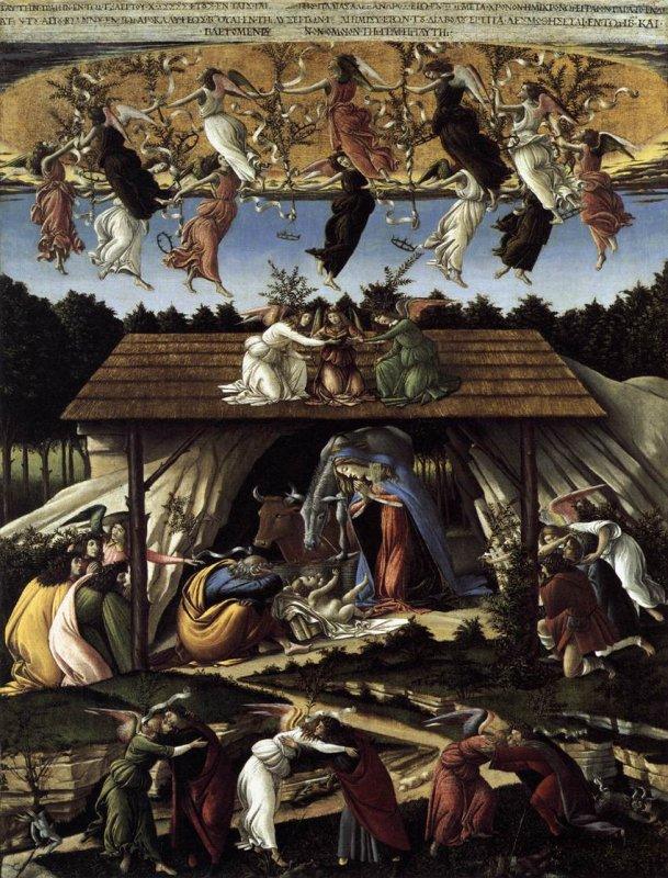 3.Botticelli 1445 1510_De geboorte van Christus