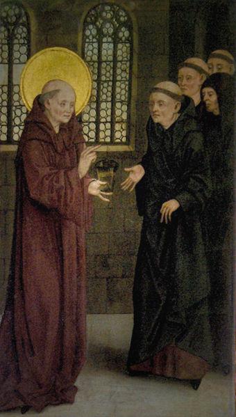 Benedictus drinkt gif