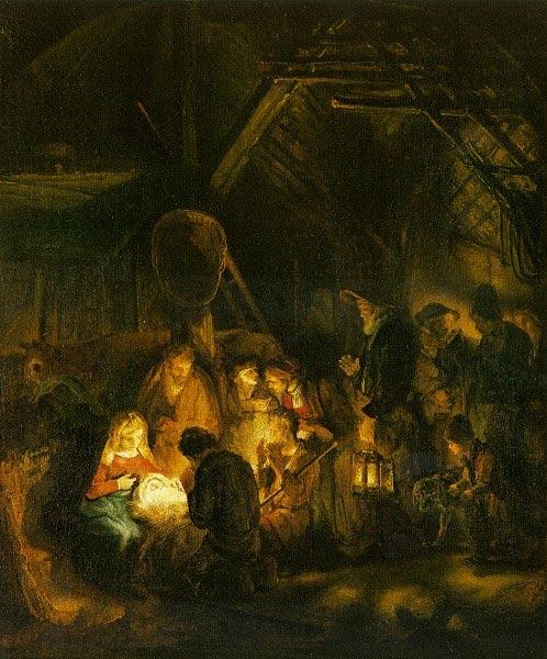 4. Rembrandt van Rijn_aanbidding herders_1646