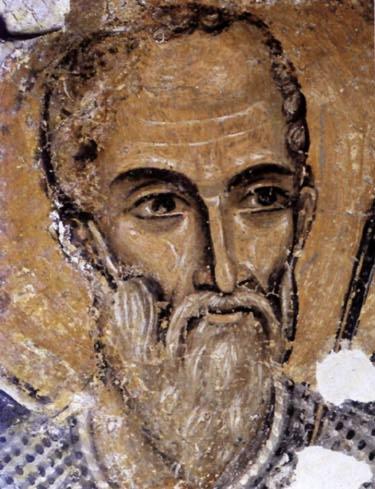 Middeleeuws fresco van Sint Nicolaas uit de Boyana Kerk (UNESCO erfgoed)