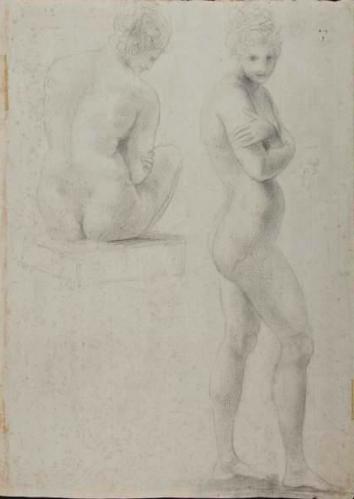 Twee vrouwelijke naaktfiguren