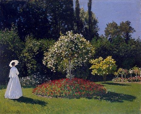 Claude Monet, Vrouw in een tuin, 1867, 82,3 x 101,5 cm. © State Hermitage Museum St Petersburg