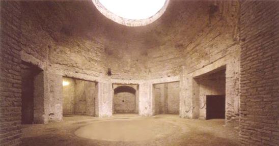 De zogenaamde 'Octagonale Zaal' in de Domus Aurea
