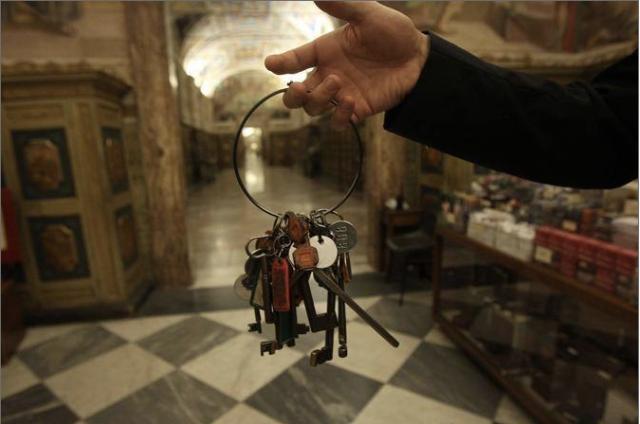 De sleutels van de Sixtijnse Kapel. Foto  Benvegnù Guaitoli / Musei Vaticani