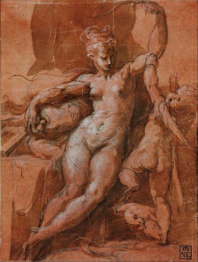 Venus neemt Cupido de wapens af (1524)