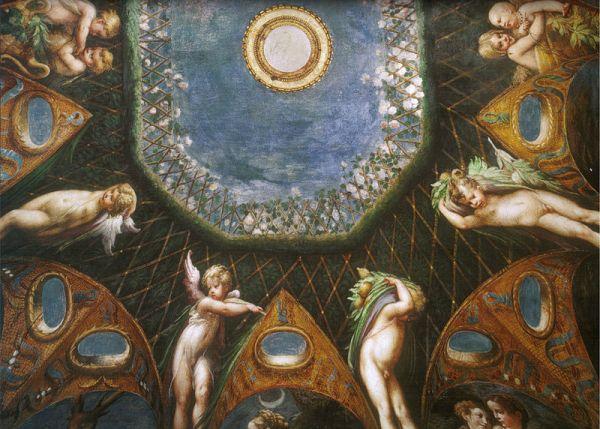 Fresco's in Fontanellato: onderdeel van de serie 'Diana en Actaeon' (1524)