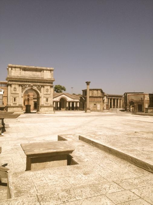 Het oude Rome nagebouwd, voor o.a. BBC's Rome