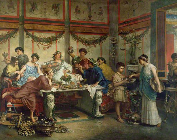 Roberto Bompiani, Een Romeins feest (late 19e eeuw), J. Paul Getty Museum