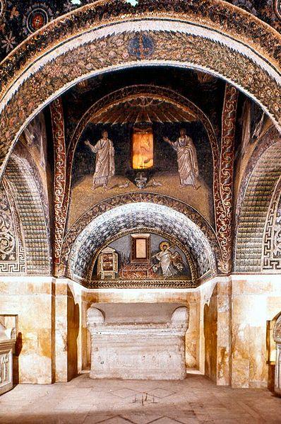 Interieur van het Mausoleum van Galla Placidia, Ravenna