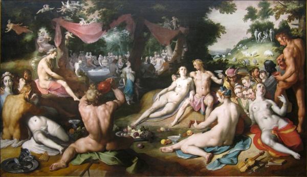 De bruiloft van Peleus en Thetis, Cornelis van Haarlem (1592/3)