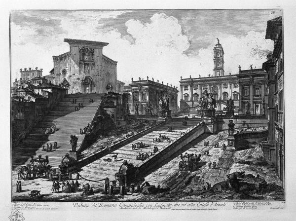 Het Capitool door Giovanni Battista Piranesi