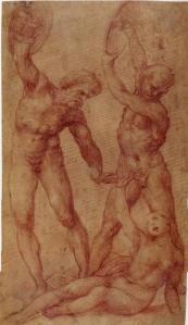 Tarpei aangevallen door Tatius' soldaten, Il Sodoma (1477)
