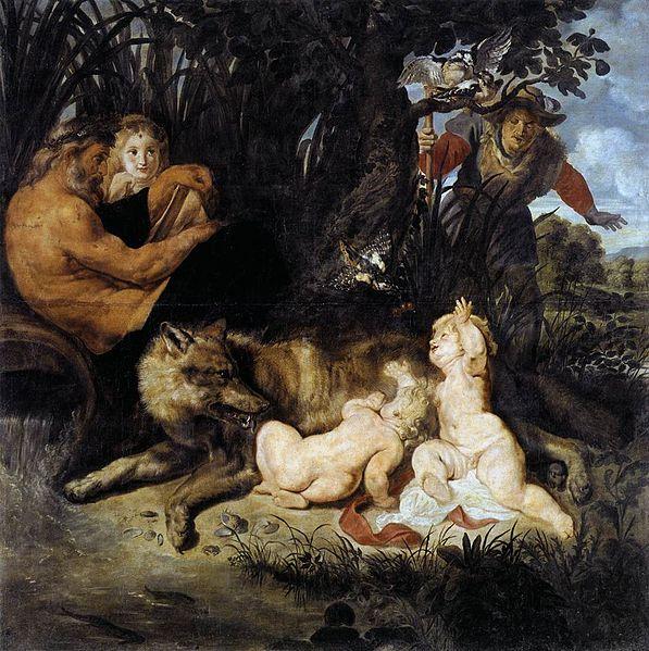 Romulus en Remus gezoogd door de wolvin, Peter Paul Rubens (1614-1616)