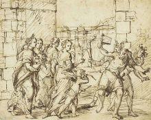 Een 16e-eeuwse tekening van de Lupercalia in Rome.