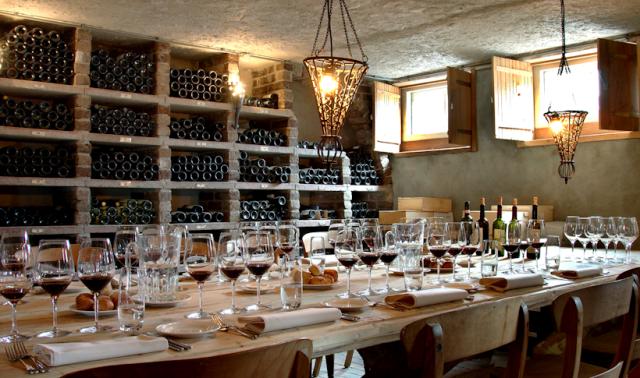 De wijnkelder  van Restaurant Mario. Foto © Restaurant Mario