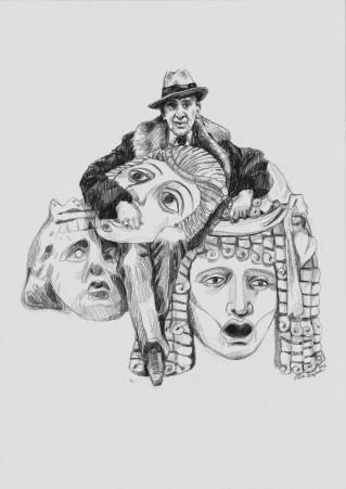 De Komedianten, tekening van Elisa Pesapane