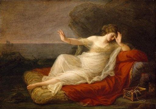 Angelica Kauffmann, Ariadne verlaten doorTheseus, 1774 (Museum of Fine Arts, Houston)