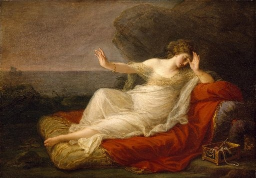 Angelica Kauffmann, Ariadne verlaten doorTheseus, 1774 (Museum of Fine Arts, Houston)