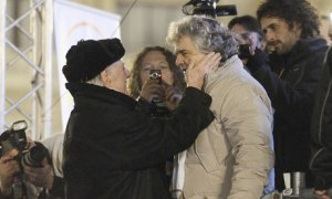 Dario Fo and Beppe Grillo