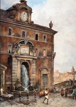 Fontana di Ponte Sisto, Via Giulia, 1880 (foto: Wikimedia)