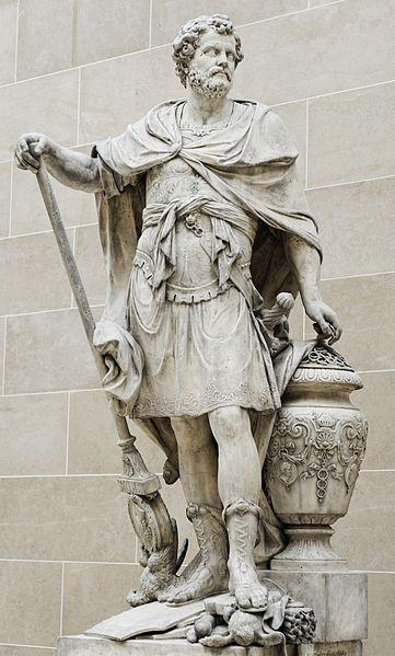 Hannibal telt de ringen van de Romeinse ruiters die gedood werden tijdens de slag, Sébastien Slodtz (1704)