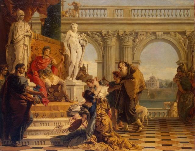 Maecenas presenteert de vrije kunsten aan Augustus, Giovanni Battista Tiepolo (1696-1770)