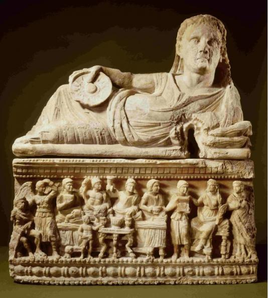 Een van de tentoongestelde Etruskische objecten (Foto: Rijksmuseum van Oudheden)