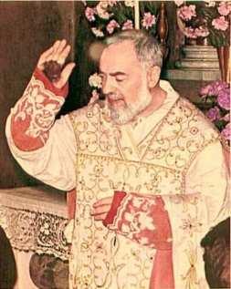Padre Pio met de stigmata