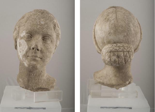Het 'gezicht van Julia', dat onlangs werd gevonden.