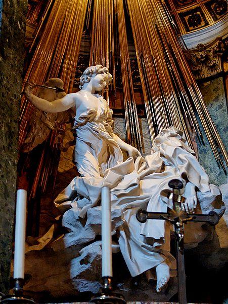De Extase van de heilige Teresa, Bernini in de Santa Maria della Vittoria (foto: Wikimedia)