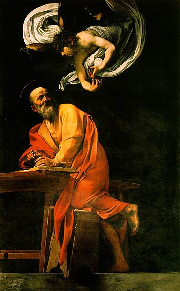 Caravaggio's Ispirazione di Matteo in de Cappella Contarelli, San Luigi dei Francesi