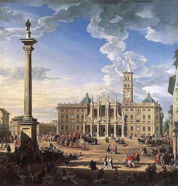 Santa Maria Maggiore door Giovanni Paolo Pannini (1744)