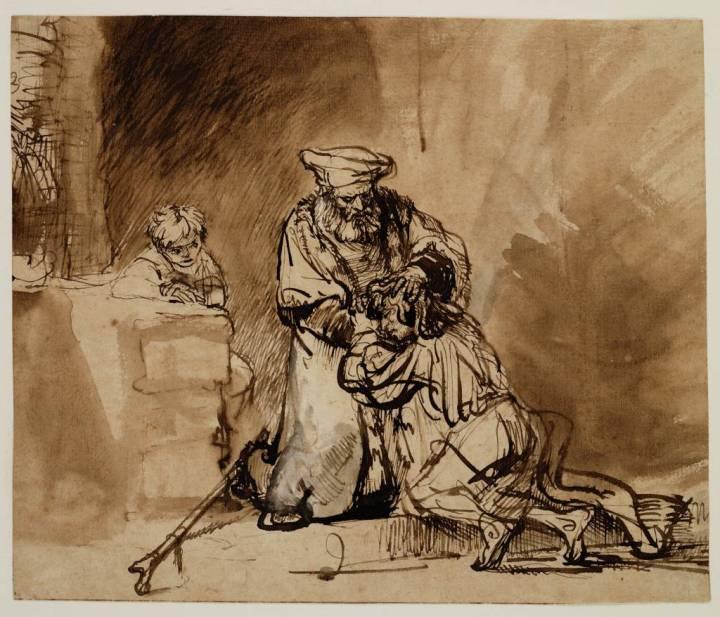 De terugkeer van de verloren zoon, de keuze van (foto: Teylers Museum)