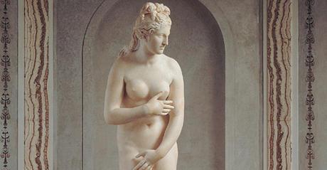De 'Capitolijnse Venus', naar een origineel van Praxitiles uit de 4de eeuw v.Chr. Te vinden in de Gabinetto della Venere