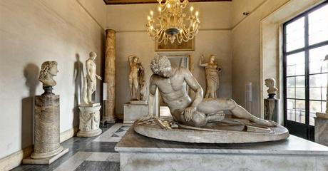 De 'Stervende Galliër', Romeinse kopie. Te vinden in de Sala del Gladiatore