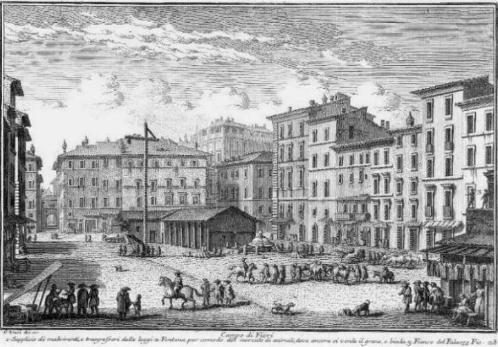 Het verhaal achter Campo de' Fiori, de bekendste markt vanRome